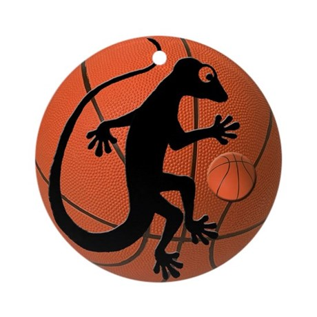 Gecko Basketball Ornament (Round)