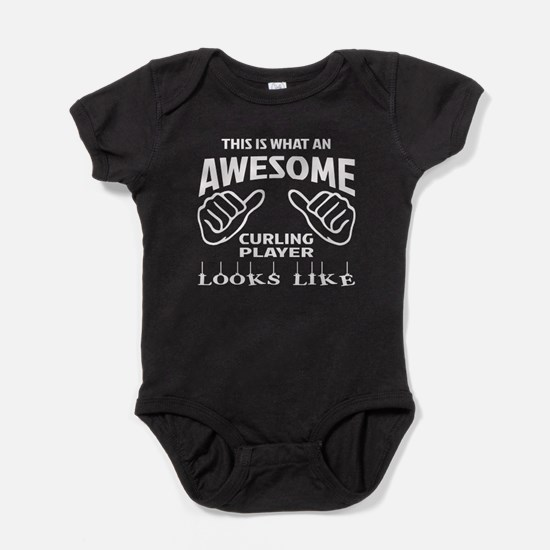 This is what an awesome Curling play Baby Bodysuit