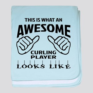 This is what an awesome Curling playe baby blanket