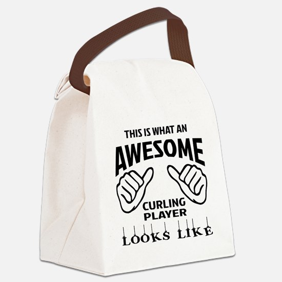 This is what an awesome Curling p Canvas Lunch Bag