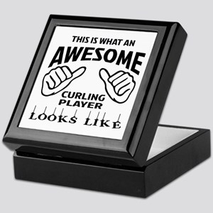 This is what an awesome Curling playe Keepsake Box