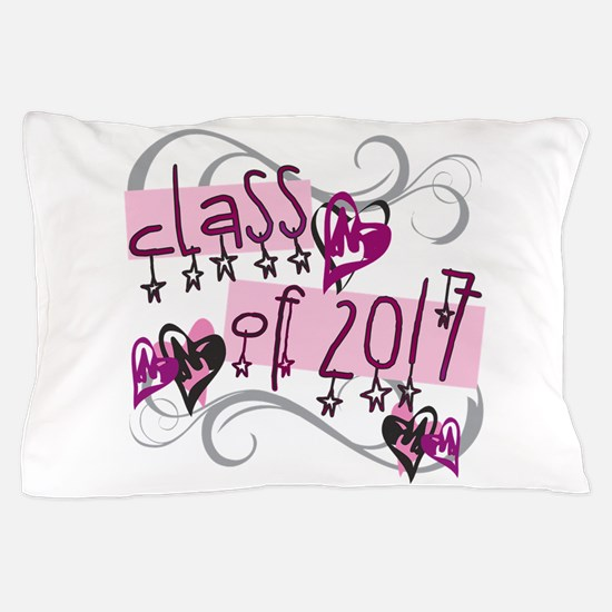 Class of 2017 Funky Stars Pillow Case
