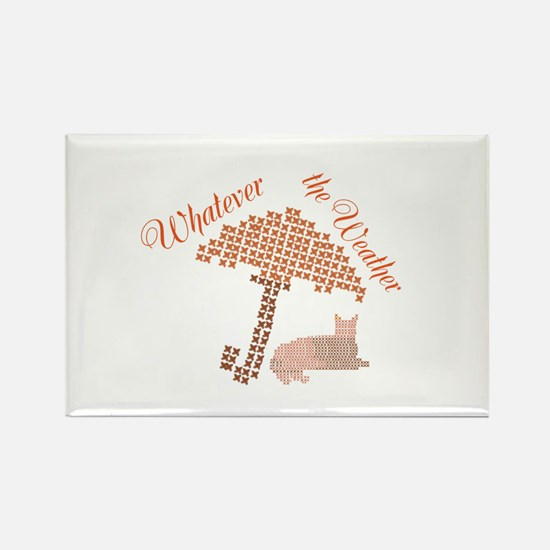Cool Funny Whatever the Weather Cat Magnets