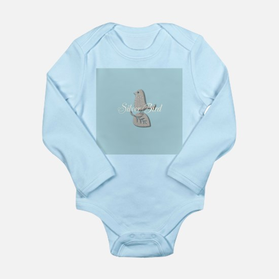 Cute Silver Bird Add Text Body Suit
