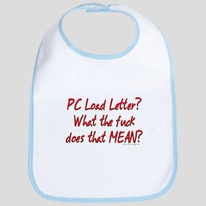 Office Space PC Load Letter Bib
