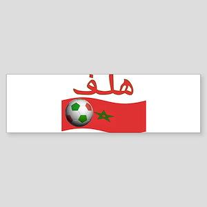 TEAM MOROCCO ARABIC GOAL Bumper Sticker