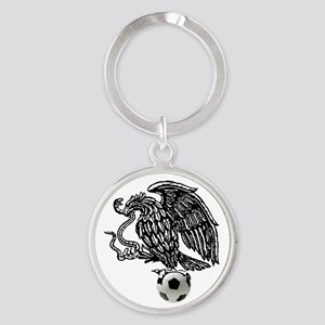 Mexican Football Eagle Round Keychain