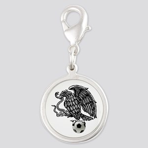 Mexican Football Eagle Silver Round Charm