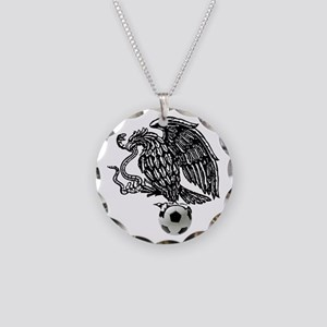 Mexican Football Eagle Necklace Circle Charm