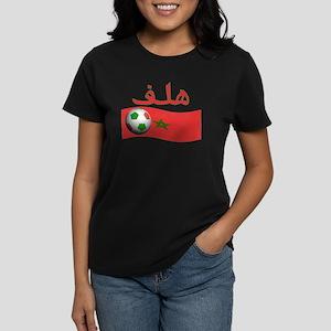 TEAM MOROCCO ARABIC GOAL Women's Dark T-Shirt