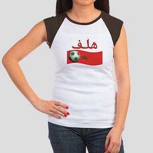 TEAM MOROCCO ARABIC GOAL Women's Cap Sleeve T-Shir