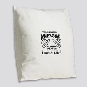 This is what an awesome Climbi Burlap Throw Pillow