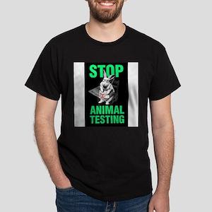STOP ANIMAL TESTING Ash Grey T-Shirt