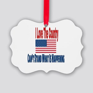I Love The Country Picture Ornament