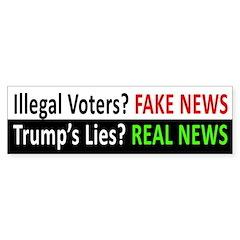 Fake News, Real News (trump Lies) Bumper Bumper Sticker
