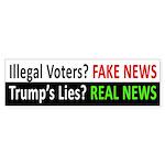 Fake News, Real News (trump Lies) Bumper Sticker