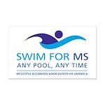 Swim for MS Rectangle Car Magnet