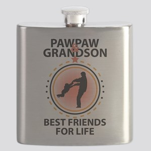 Pawpaw And Grandson Best Friends For Life Flask