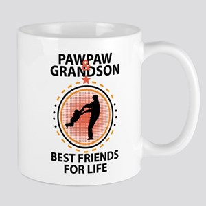 Pawpaw And Grandson Best Friends For Life Mugs