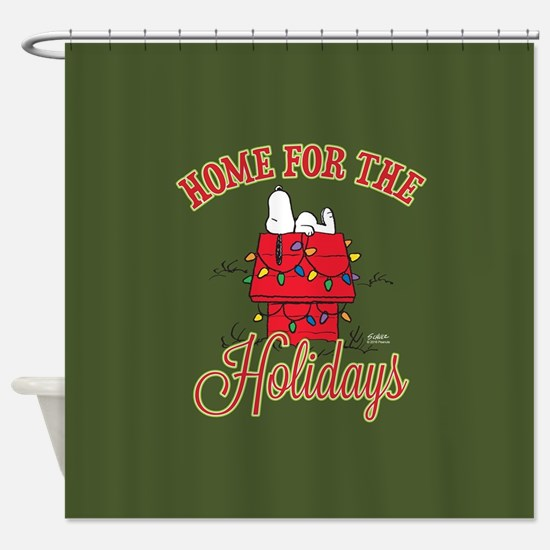 Home for the Holidays Full Bleed Shower Curtain