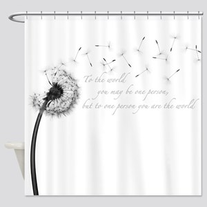 Dandelion Inspiration Shower Curtain