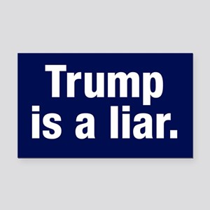 Trump Is A Liar Rectangle Car Magnet