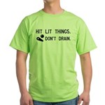 Pinball Don't Drain Humorous Green T-Shirt