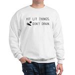 Pinball Don't Drain Humorous Sweatshirt