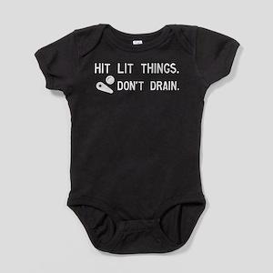 Pinball Don't Drain Humorous Baby Bodysuit