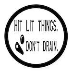 Pinball Don't Drain Humorous Round Car Magnet