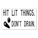 Pinball Don't Drain Humorous Sticker (Rectangle)