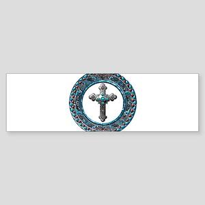 Western Cross Bumper Sticker