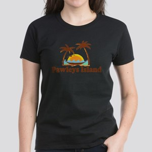 Pawleys Island SC - Sun and Palm Trees Design T-Sh