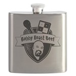 Bobby Roast Beef Official Logo Flask