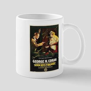 Vintage poster - Seven Keys to Baldpate Mugs