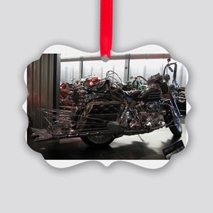 Harley Chrome Picture Ornament