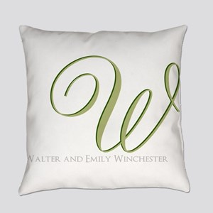 Elegant Monogram and Text by LH Everyday Pillow