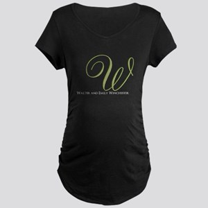 Elegant Monogram and Text by LH Maternity T-Shirt