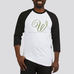 Elegant Monogram and Text by LH Baseball Jersey