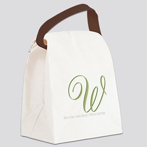 Elegant Monogram and Text by LH Canvas Lunch Bag