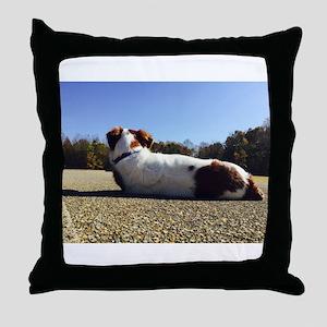 Track Dog 3 Throw Pillow