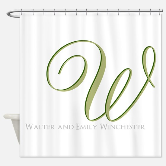 Elegant Monogram and Text by LH Shower Curtain