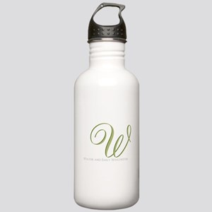 Elegant Monogram and Text by LH Water Bottle