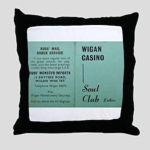 wigan casino NORTHERN SOUL Throw Pillow