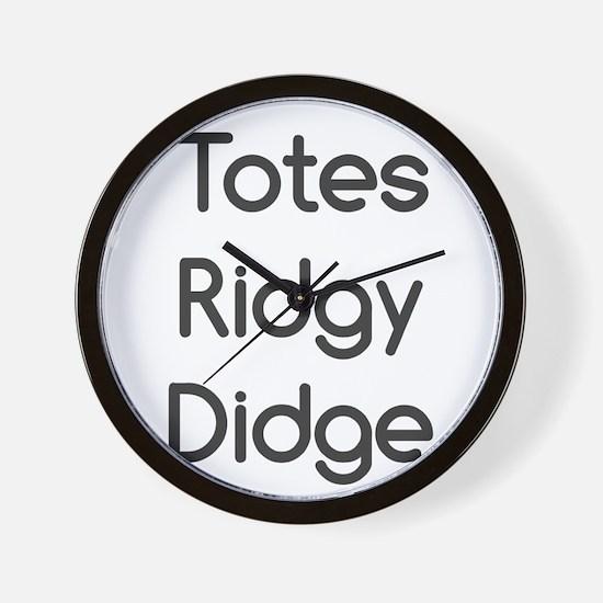 Ridgy Didge Wall Clock