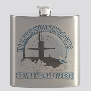 Submarines And Targets Flask