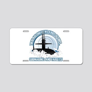 Submarines And Targets Aluminum License Plate