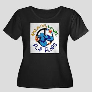 peace, love, flip-flops Plus Size T-Shirt