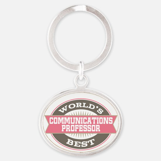 communications professor Oval Keychain