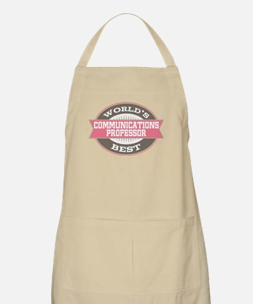 communications professor Apron